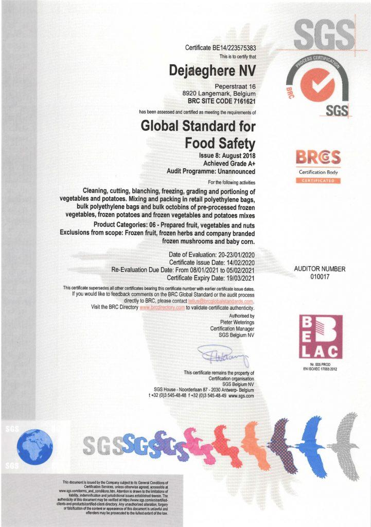 certificate-BRC