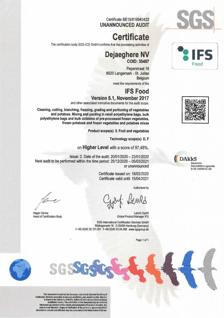 certificate-IFS