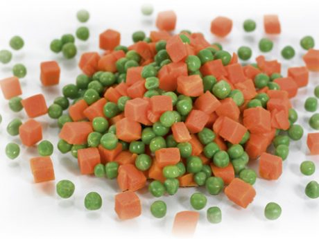 Green peas & diced carrots